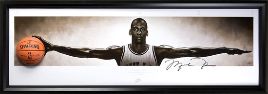 Upper Deck Authenticated Slam Dunk Gift Guide Featuring Michael Jordan Autograph Wings Breaking Through