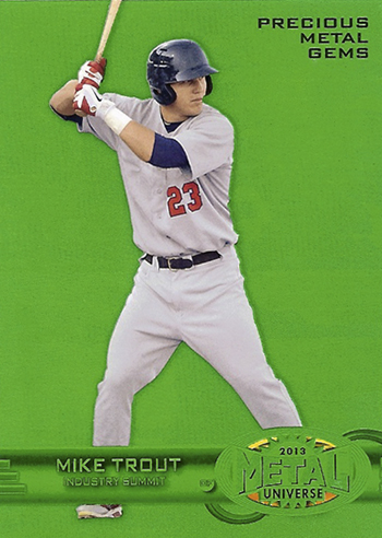 2013 Upper Deck Fleer Retro Precious Metal Gems Mike Trout Promo