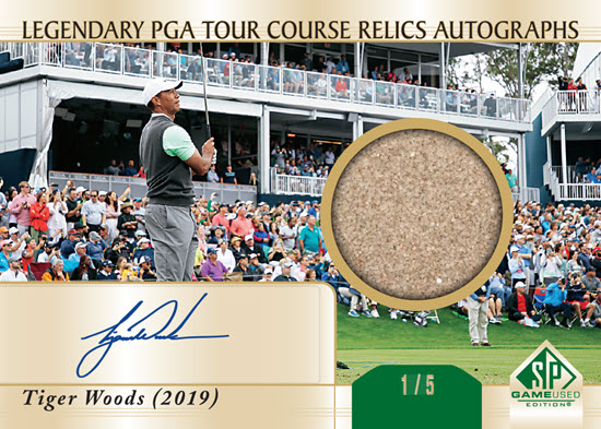 Tiger Woods 2020 SPGU Course Relic