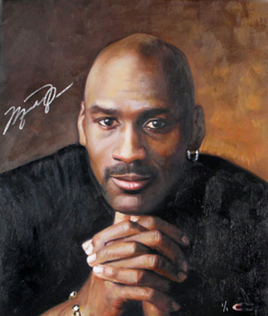 Upper-Deck-Authenticated-Suite-One-of-One-Michael-Jordan-Signed-Painting-Goodwin-Champions