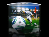 Landon Donovan Autographed MLS Ball Within Curve Display