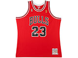 Michael Jordan Autographed 1996-97 Bulls Red NBA Finals Patch Mitchell & Ness Jersey | Buy Now
