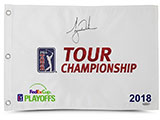 Tiger Woods Autographed 2018 Tour Championship Pin Flag | Buy Now