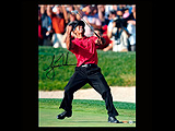 Tiger Woods Autographed 2008 U.S. Open Championship Celebration Photo