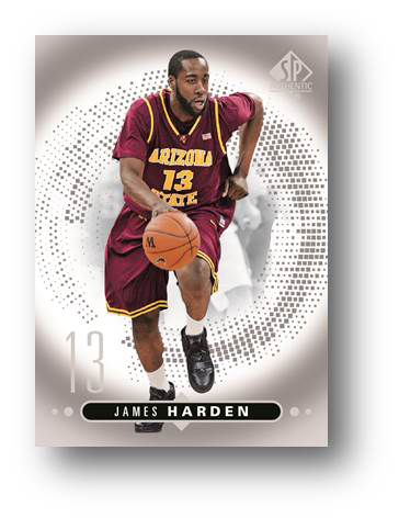 James Harden SP Authentic Basketball Card