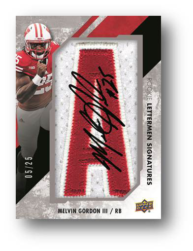 Melvin Gordon III Rookie Lettermen Signatures Card