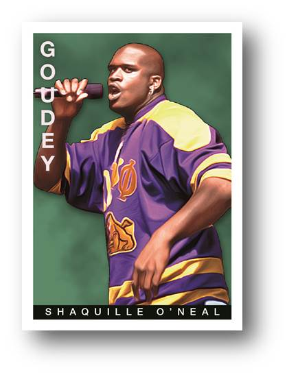 Shaquille O'Neal 2015 Goodwin Champions Card